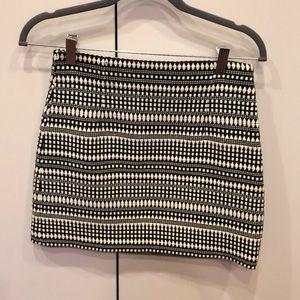 Zara Knit Cream/Black Mini Skirt